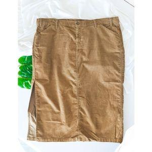 LEVI'S Corduroy Midi Stretchy Skirt Size 22W